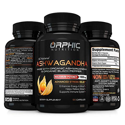 Orphic Nutrition natural supplements for anxiety