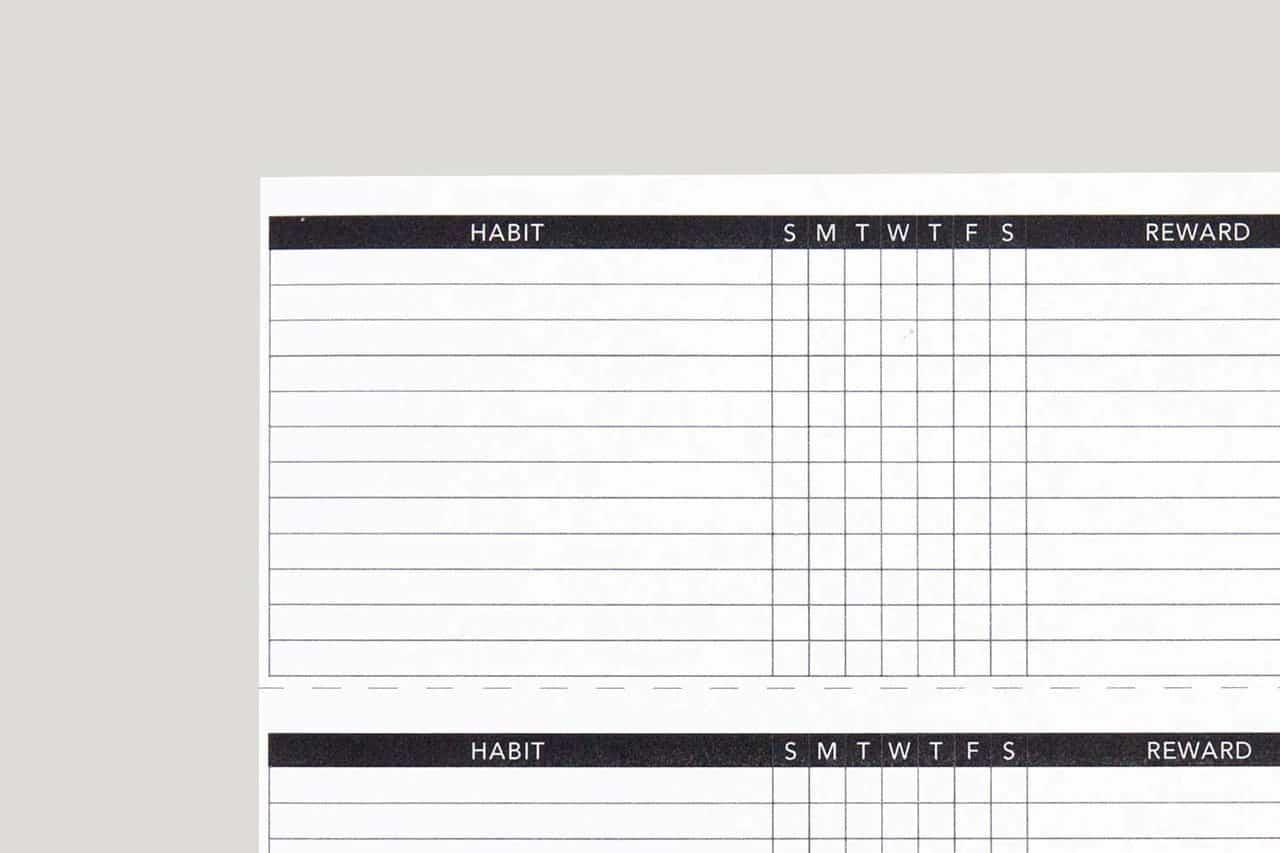 basic habit tracker printable