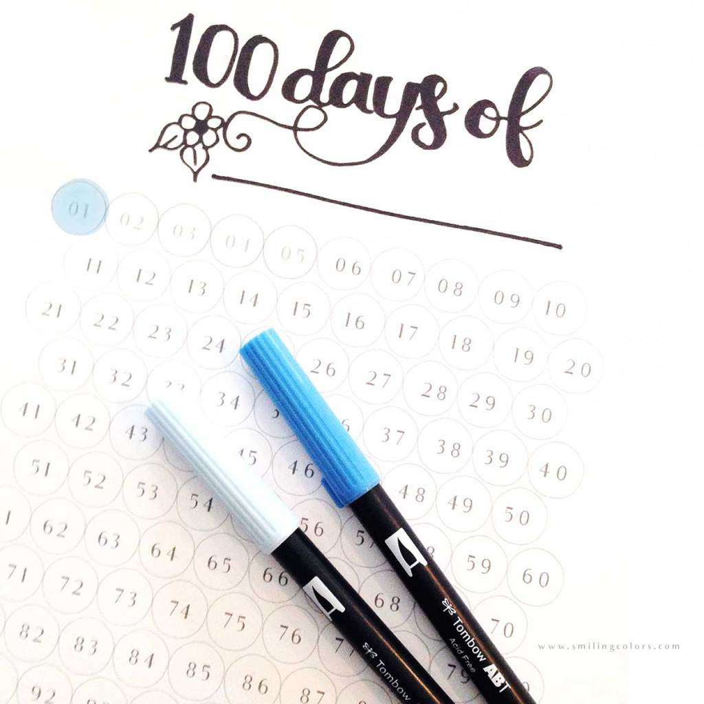 100 Day Habit Tracker Printable