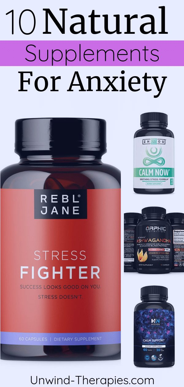 Natural Supplements for Anxiety and Stress Pin